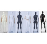 Male female Abstract Mannequin Egghead Wood Arms Hands Black White Matte or Glossy