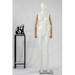 Männlich Abstrakte Schaufensterpuppe Egghead Holzarme Hände Schwarz Weiß matt oder glänzend