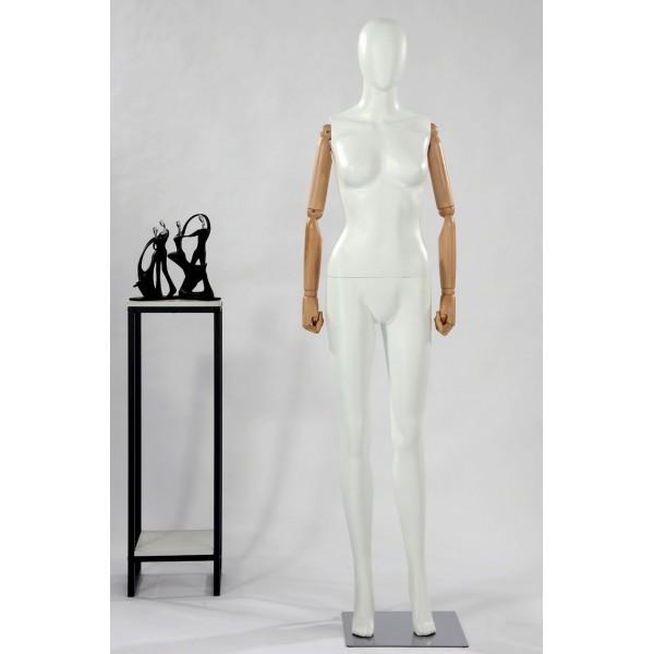 GM3 abstrakte Schaufensterpuppe glänzende lackierte Hautfarbe in weiß schwarz