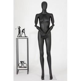 FC66-1-DS abstrakte Schaufensterpuppe schwarz  in matt Frau