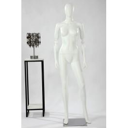 FA1-1-DS abstrakte Schaufensterpuppe weiß in matt Frau