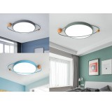 LED ceiling light XQ with remote control Light color / brightness adjustable Acrylic shade lacquered metal frame
