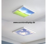 LED ceiling light 9980 with remote control light color / brightness adjustable relaxed design lacquered metal frame