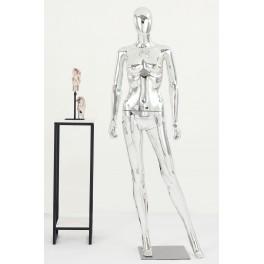 schöne abstrakte silber glänzend lackierte Schaufensterpuppe Egghead Neu mannequin männlich/weiblich