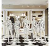 schöne abstrakte silber glänzend lackierte Schaufensterpuppe Egghead Neu mannequin männlich/weiblich FC MC Silber