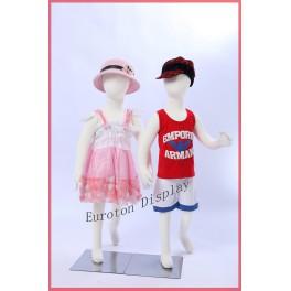 Euroton R6X2 2 X Kinderpuppen 105cm Flexible biegbare Körper Schaufensterpuppe Mannequin