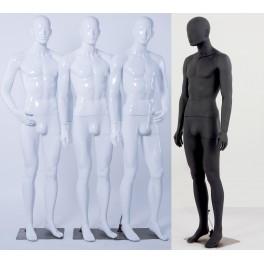 Männlich Abstrake Schaufensterpuppe Weiß Glänzend oder schwarz matt Hautfarbe Mann Neu Ohren Nase