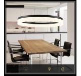 LED Pendelleuchte 6053 schwarze Rahmen 1.2.3. Ringe  Neutralweiß 4500k  Luxus  Design