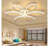 XW809 LED Deckenlampe mit Fernbedienung Lichtfarbe/ Helligkeit einstellbar Acryl-Schirm weiß lackierter Metallrahmen