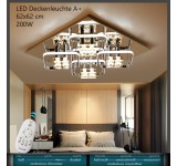 Bware Nr. 153  D809-4 LED ceiling light with remote control light color / brightness adjustable
