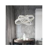 LED Pendelleuchte 2137 mit Fernbedienung Lichtfarbe/ Helligkeit einstellbar Weiß oder schwarz