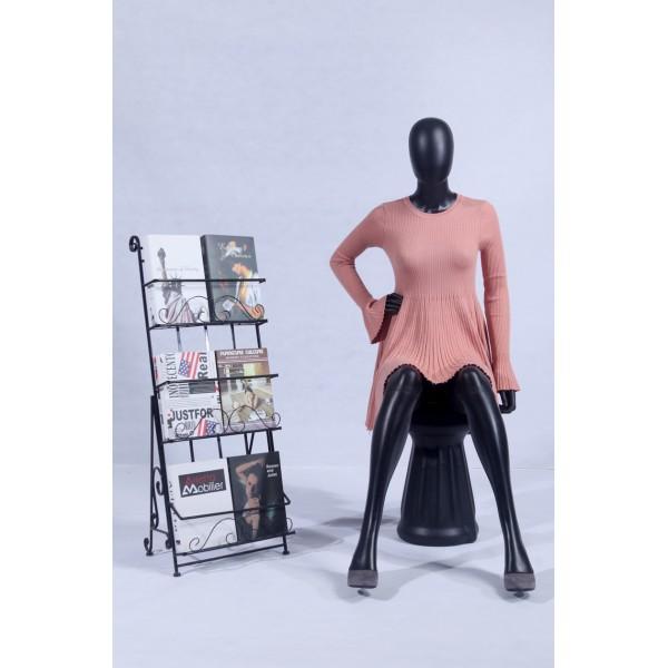 FC-4 weibliche Schaufensterpuppe abstrakt schwarz matt Kopf Frau Puppe black