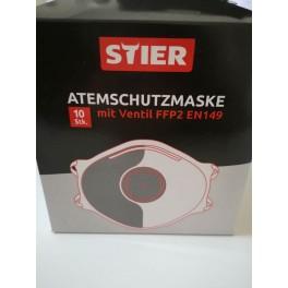 10 Stück Atemschutzmaske  FFP2 mit Ausatmungsventil  Maske Gesichtsmaske Mundschutz Medizien Mundmaske Hygieneschutz