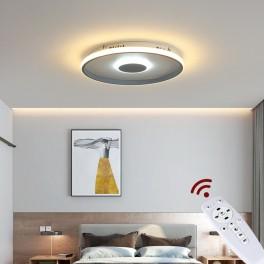 9641 LED Deckenleuchte mit Fernbedienung Lichtfarbe/ Helligkeit einstellbar Acryl-Schirm weiß/schwarz lackierter Metallrahmen