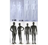 Male female abstract mannequin white or black shiny or  matt skin color man new ears nose