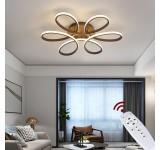 XW809 LED ceiling light with remote control light color / brightness adjustable acrylic shade white or kaffee metal frame