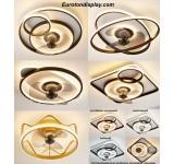 Deckenleuchte mit Ventilator  LED Deckenlampe Fernbedienung Lichtfarbe/ Helligkeit einstellbar dimmbar 6 Windgeschwindigkeit