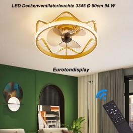 Deckenleuchte mit Ventilator  LED Deckenlampe Fernbedienung Lichtfarbe/ Helligkeit einstellbar dimmbar 8 Windgeschwindigkeit