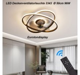 fanlight Ceiling lamp with fan 3343 LED ceiling lamp remote control light color / brightness adjustable dimmable 6 wind speed