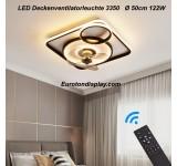 Deckenleuchte mit Ventilator 3350 Deckenventilatorleuchte  Fernbedienung Lichtfarbe/ Helligkeit einstellbar dimmbar fan light