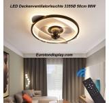Deckenleuchte mit Ventilator 3355 Deckenventilatorleuchte  Fernbedienung Lichtfarbe/ Helligkeit einstellbar dimmbar fan light