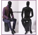 XM-16H abstract sitting mannequin shining
