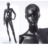 CS13-8 abstrakte Schaufensterpuppe schwarz  in matt Frau