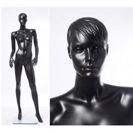 CS15-8 abstrakte Schaufensterpuppe schwarz  in matt Frau