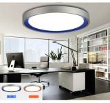 LED Deckenleuchte 1007 18W / 7W    Alu Rahmen Acrylblau/ orange