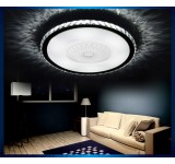 LED ceiling light 2017 crystal clear / amber 97x69cm incl. LEDs and remote control light color / brightness adjustable 64w