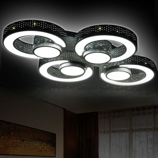 ... 2036 LED Deckenleuchte Mit Fernbedienung Lichtfarbe/helligkeit  Einstellbar Acryl Schirm A+ ...