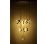 LED Pendelleuchte Y8001-12P Luxus  Design  chrom  Ø 50cm H 110cm  warmweiß 3000k 12x4,3W
