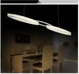 LED Pendelleuchte Y8016-B-2P,  chrom warmweiß 3000 K Luxus  Design