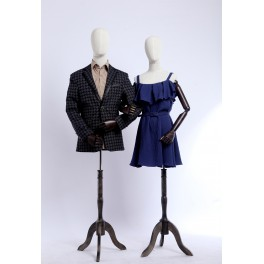 dressmakers dummy with flexible arms of wood