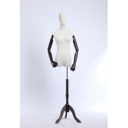 B3T-G  female dressmakers with egghead dummy with flexible arms made of wood