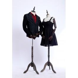 Schneiderbüste stoffbezogenen Oberkörper mit Deckel ,Arme und Finger aus Holz beliebig verstellbar