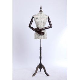 B12-G B12-G dressmakers with egghead dummy with flexible arms made of wood