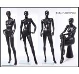 weibliche abstrakte Schaufensterpuppe schwarz  in matt CS  QT16