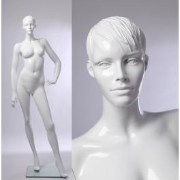 weibliche abstrakte Schaufensterpuppe weiß  in glanz CS -B