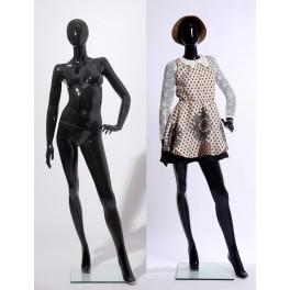weibliche abstrakte Schaufensterpuppe schwarz Glanz K46980-H  XF17-H