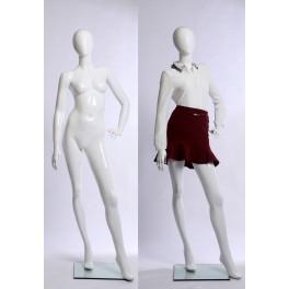 weibliche abstrakte Schaufensterpuppe weiß Glanz
