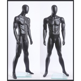 MA120-8 schwarz lackierter Mann in matt Egghead