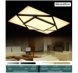 LED Deckenleuchte 2056 Rahmen schwarz matt mit Fernbedienung  Lichtfarbe/Helligkeit einstellbar
