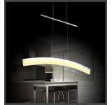 LED 20W Pendelleuchte SD8361 chrom  3000k warmweiß  höhenverstellbar
