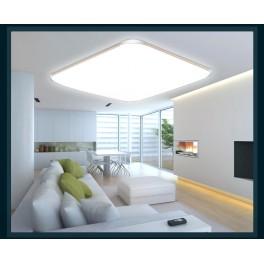 LED Deckenleuchte 6086-39*39 silber  Rahmen silber Fernbedienung  Lichtfarbe/Helligkeit einstellbar