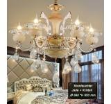 chandelier 89536 15fl 6fl  crystal ,jade, metal E14