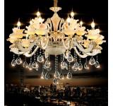 chandelier 89538 15fl 6fl  crystal ,jade, metal E14