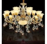 Kronleuchter SS202-15fl  Luxus  Design   Kristall ,Glas, Metall E14