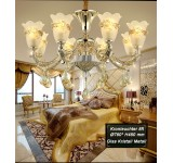 chandelier SS109-8 fl  crystal ,glass, metal E14