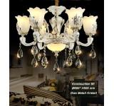 chandelier SS107-6 fl  crystal ,glass, metal E14